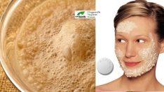 Sivilce ve Siyah Noktalara Aspirin ve Maya Maskesi