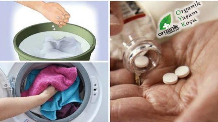 Çamaşır Makinenize atacağınız Birkaç Aspirin Bakın Neler Yapıyor!