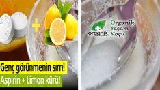 Aspirin ve Limon Kürü Cilt Kırışıklıklarını ve Sivilcileri Yok Ediyor