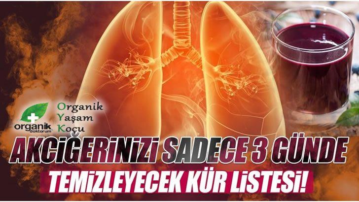 3 Günde Akciğerlerimizi Tertemiz Yapan Kür