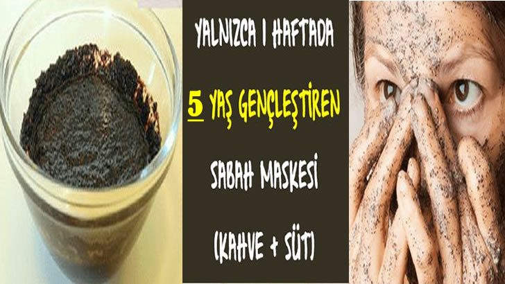 Bir Haftada En Az 5 Yaş Gençleştiren Kahve Süt Maskesi