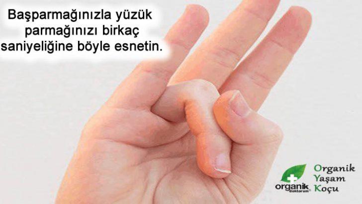 Başparmağınızla yüzük parmağınızı Esnetin.. Sebebini Çok Seveceksiniz