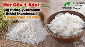 Her gün 1 adet çiğ pirinç yutarsanız faydası inanılmaz