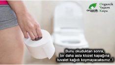 Klozet kapağına tuvalet kağıdı koyuyorsanız Dikkat.!