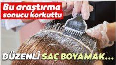 Düzenli Saç Boyamak Kansere Yol Açıyor..!