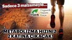 Metabolizma Hızınız 3 Malzeme ile 2 Katına Çıkacak..!