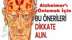 Bu Öneriler ALZHEİMER Riskine Karşı Sizi Koruyor
