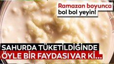 Ramazanda susuzluğa iyi gelen ve sahurda tüketilmesi gereken besinler…